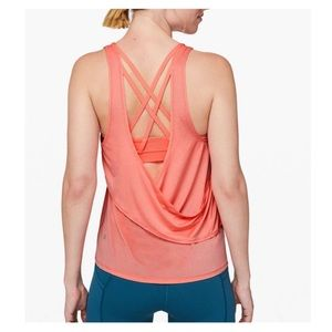 Lululemon light coral Reenergized 2-in-1 tank